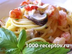 Спагетти с семгой