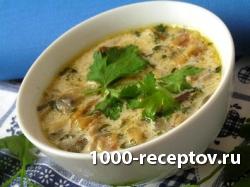 Грибной суп с овощами и лапшой