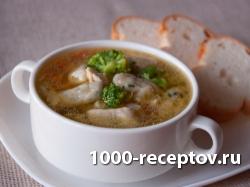 Капустный суп с курицей и клецками