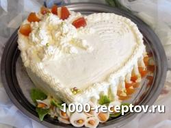 Изысканный торт на день св. Валентина