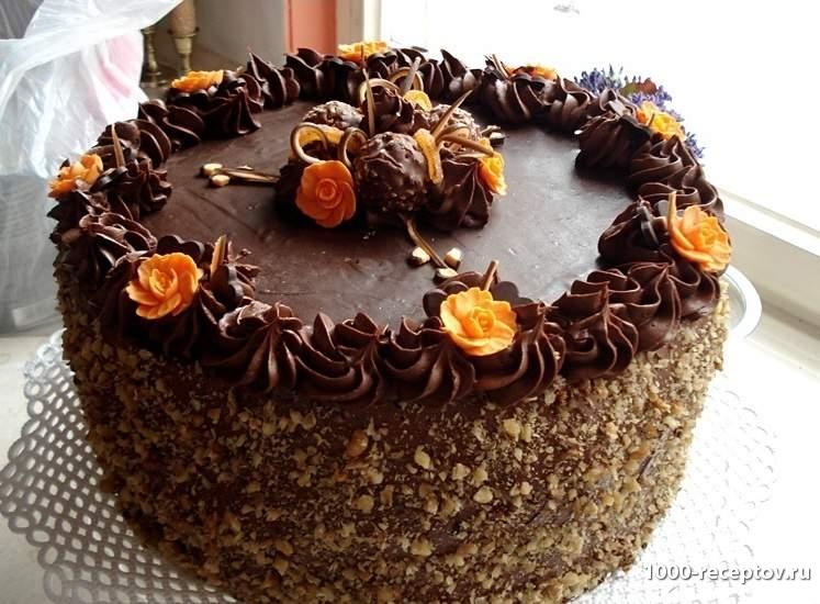 Торт шоколадный с ромом