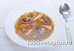 Суп с грибами и крабовым мясом