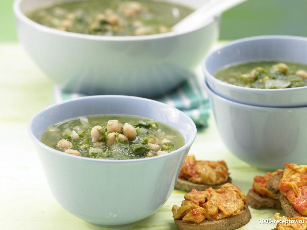 суп в тарелочках